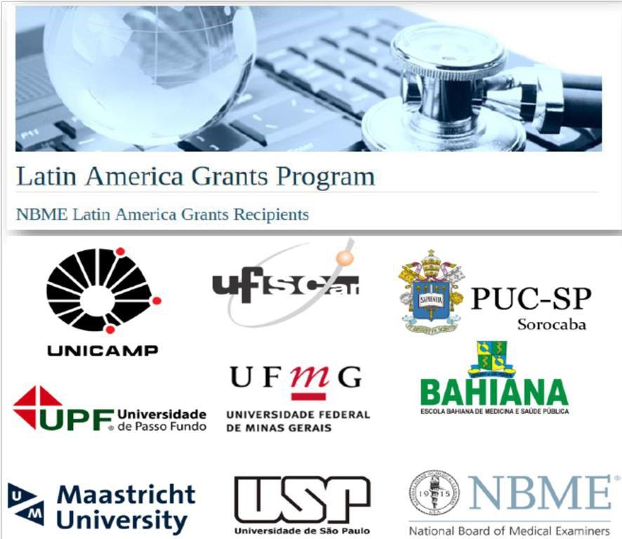 Instituições do Projeto da Latin America Grants